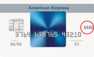 Four digit code on the middle right of the front of your card